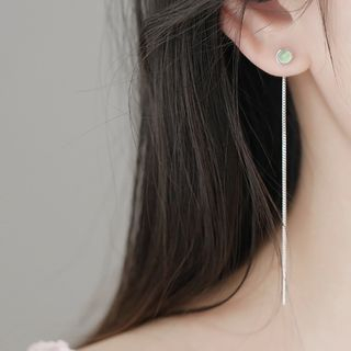 Image of 925 Sterling Silver Bead Earring As Shown In Figure - One Size