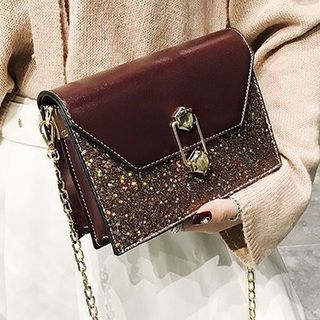 Glittered Crossbody Bag