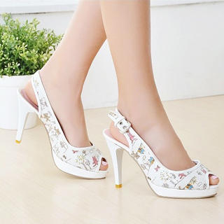 Picture of KAWO Printed Peep-Toe Platform Heels 1022895168 (Other Shoes, KAWO Shoes, China Shoes, Womens Shoes, Other Womens Shoes)