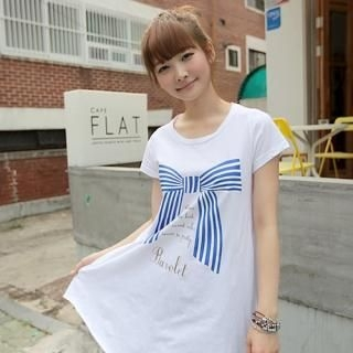 "Buy CLICK Short-Sleeve ""Bow"" Top 1022902024"