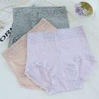 Set of 3: Lace-Trim High-Waist Panties 1596