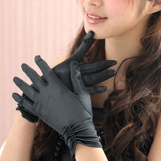 Picture of 59 Seconds Bead-Detail Ruched Gloves Black - One Size 1021409352 (59 Seconds Apparel, Womens Hats & Scarves, Hong Kong Apparel, Hong Kong Hats & Scarves)