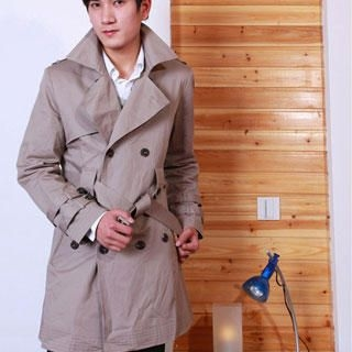 Buy Justyle Belted Double-Breasted Trench Coat 1022300903