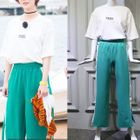 Short-Sleeve T-Shirt / Straight-Leg Pants 1596