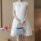 Set: Crochet Panel Sleeveless Dress + Slipdress 1596
