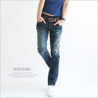 Picture of MOTOBE Washed Jeans 1022686336 (MOTOBE, Mens Denim, Korea)