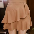 Layered A-Line Mini Skirt 1596
