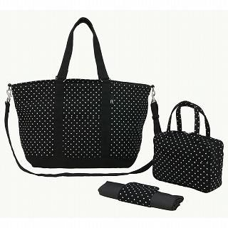 Buy ROOTOTE Polka Dotted Tote Bag [ROOTOTE Mammy Roo - CANVAS-A] Black – One Size 1022777254