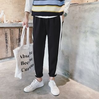Color Block Tapered Pants