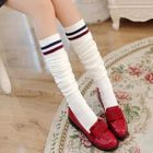 Striped Trim Stockings 1596