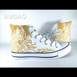 Buy HVBAO Golden High-Top Sneakers 1014440562
