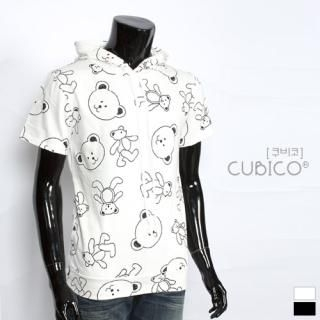 Picture of CUBICO Hooded Printed Pullover 1022772740 (CUBICO, Mens Tees, Korea)