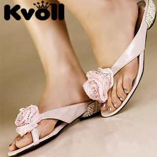 "Buy Kvoll Rhinestone ""Corsage"" Thong Sandals 1023070722"