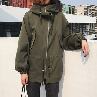 Image of Hooded Utility Jacket