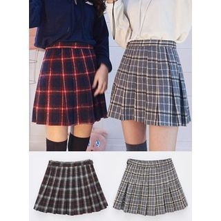 Check Pleated Mini Skirt 1056045505