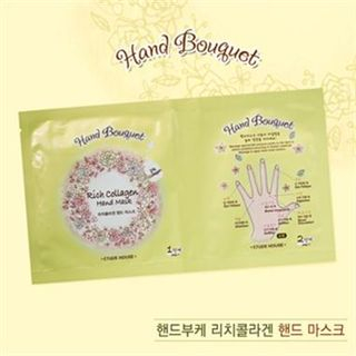 Etude House - Hand Bouquet Rich Collagen Hand Mask 1pair 16g 1053745397