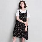 Set: T-Shirt + Spaghetti Strap Floral Dress 1596
