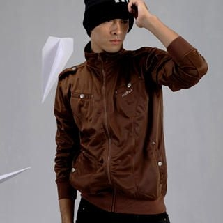 Picture of Justyle Banded Hem Funnel-Neck Jacket 1021545602 (Justyle, Mens Jackets, China)