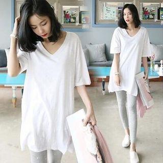 V-neck Short-Sleeve T-shirt 1064773499