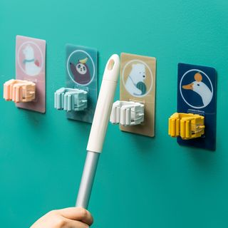 Image of Animal Print Adhesive Mop Holder