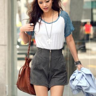 Buy REDOPIN High-Waist Shorts 1022509862