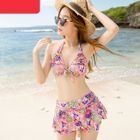 Set: Patterned Bikini + Skirt 1596