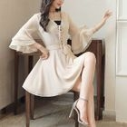 Lace-Up A-Line Dress 1596