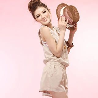 Buy Tokyo Fashion Sleeveless Double-Buttoned Playsuit 1022963865