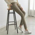 Brushed-Fleece Lined Slim-Fit Pants 1596