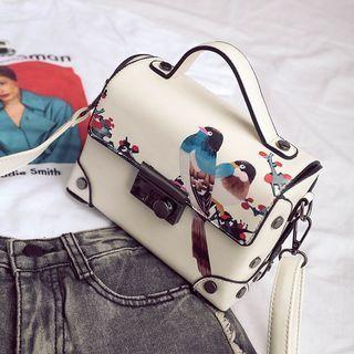 Faux Leather Flap Crossbody Bag