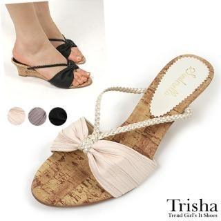 Buy Trisha Beribboned Wedge Mules 1022464831