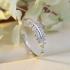 925 Sterling Silver Leaf Ring 1596