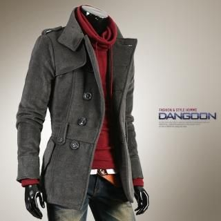 Buy DANGOON Wool-Blend Stand Collar Jacket 1021814645