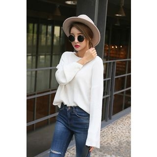 Boat-Neck Knit Top 1053618797