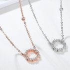 Rhinestone Pendant Necklace 1596