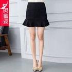 Lace Ruffle Hem Mini Skirt 1596