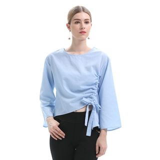 Image of Bell-Sleeve Plain Top