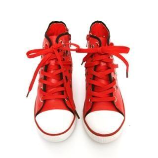Buy KENZI Faux-Leather Grommet-Detail Sneakers 1022590527