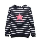 Star Print Striped Pullover 1596