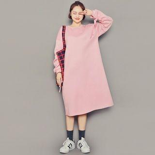 Round-Neck Midi Pullover Dress 1063725336