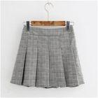 Plaid Pleated A-Line Skirt 1596