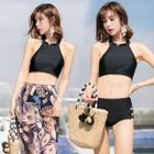 Set: Bikini + Print Wide-Leg Pants 1596