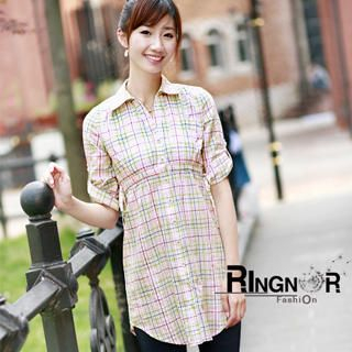 Buy Ringnor Tab-Sleeve Plaid Shirtdress 1022979691