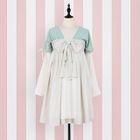 Bow Long-Sleeve Dress 1596