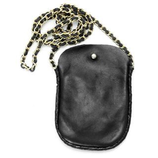 Picture of 59 Seconds Genuine Leather Chain-Strap Pouch Black - One Size 1022936172 (59 Seconds, Other Bags, Hongkong Bags, Womens Bags, Other Womens Bags)