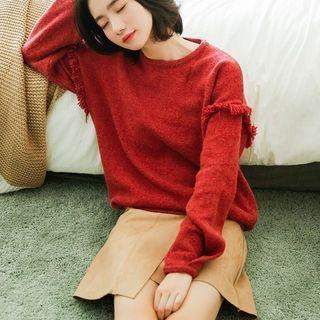 Fringed Trim Sweater 1063661033