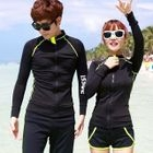 Couple Matching Lettering Rashguard / Swim Shorts 1596