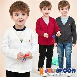 Boys V-Neck Buttoned Cardigan 1058040119