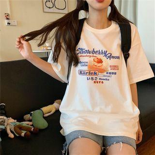 Image of Cake Print Short-Sleeve T-Shirt