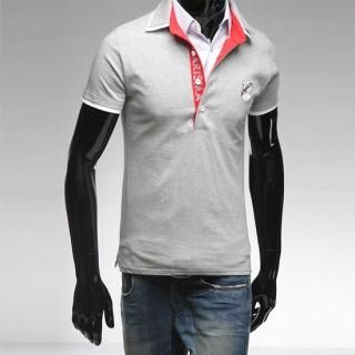 Buy Style YOURS Embroidered Short-Sleeve Polo T-Shirt 1022493006